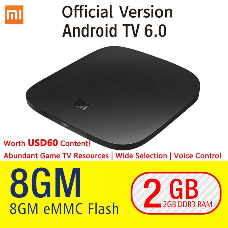 Original xiaomi mi caja android 6.0 smart set-top tv box 4 k Quad Core WIFI Youtube Honda TV Netflix IPTV Media DTS Dolby jugador