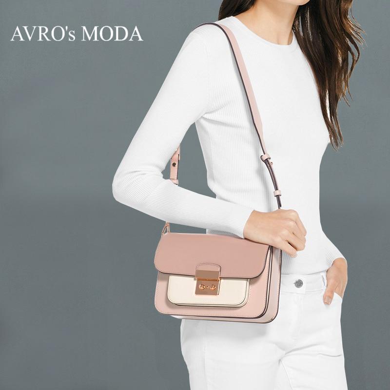 Avro의 moda 브랜드 정품 가죽 핸드백 여자 가방 럭셔리 가방 디자이너 크로스 바디 가방 작은 메신저 가방-에서탑 핸드백부터 수화물 & 가방 의  그룹 1