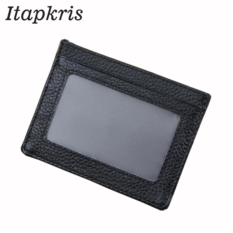 Leather Business Card Wallet Slim ID Credit Card Holder Coin Purse Casual Women Photo Case Cardholder Car Document Porte Carte недорго, оригинальная цена