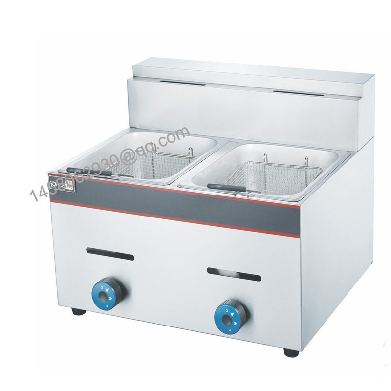 commercial restautant continuous frying machinegas fish fryerfrench fries fryer