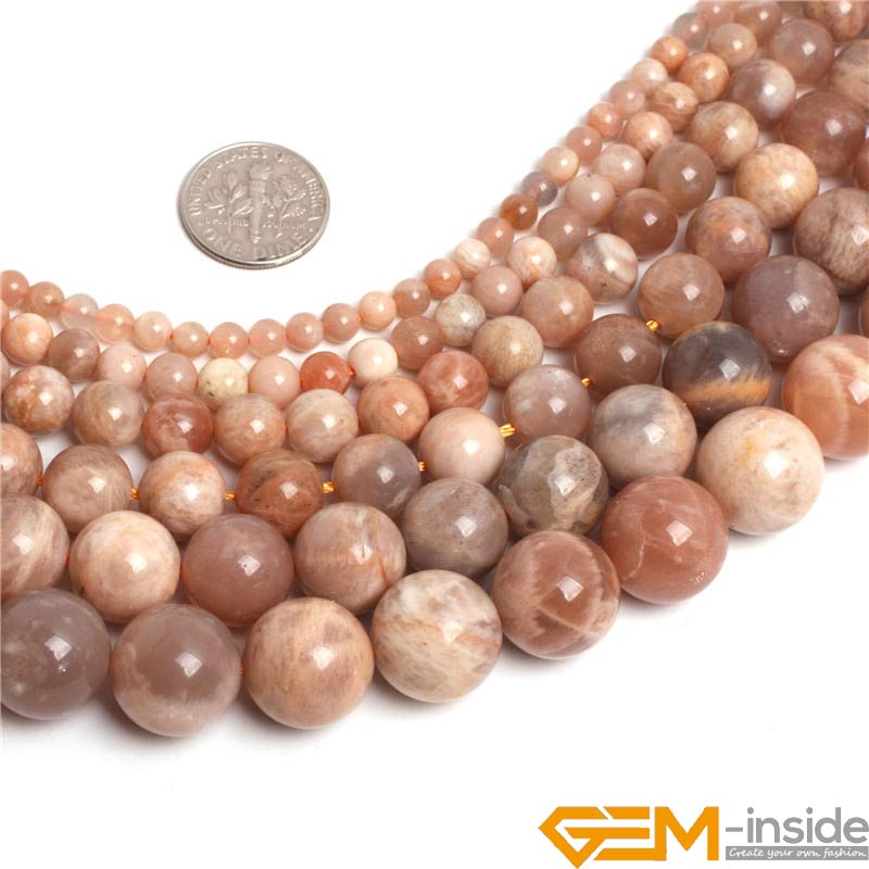 цена Round Sun Stone Beads,Selectable Size:4mm 6mm 8mm 10mm 12mm 14mm,Natural Stone Bead For Bracelet Making,Strand 15
