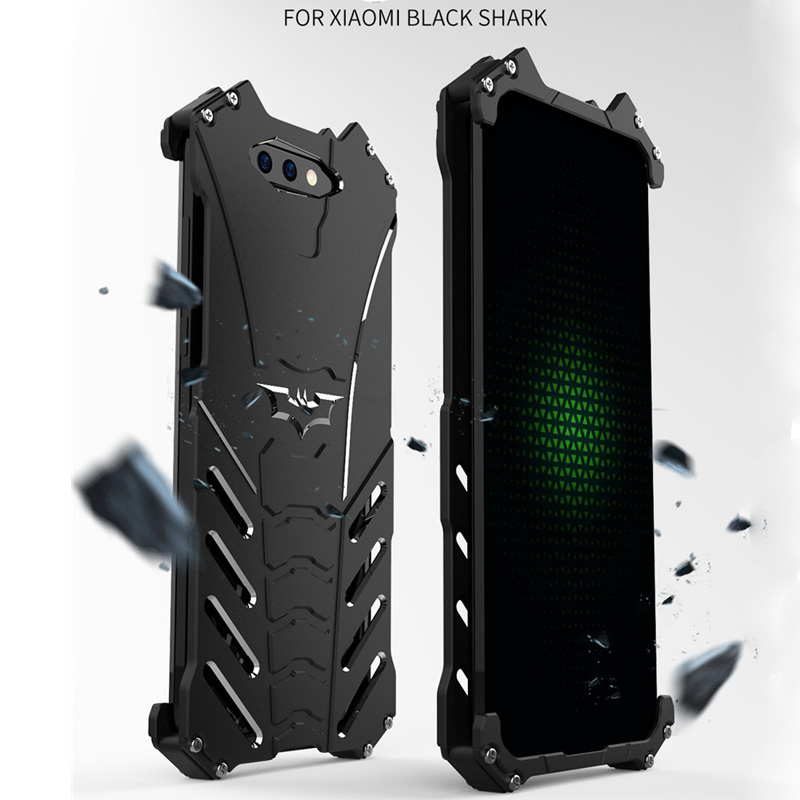 For Xiaomi Black Shark Case R-JUST Batman Luxury Aluminium Metal Case For Xiaomi Black Shark Phone Cover Coque mi BlackShark