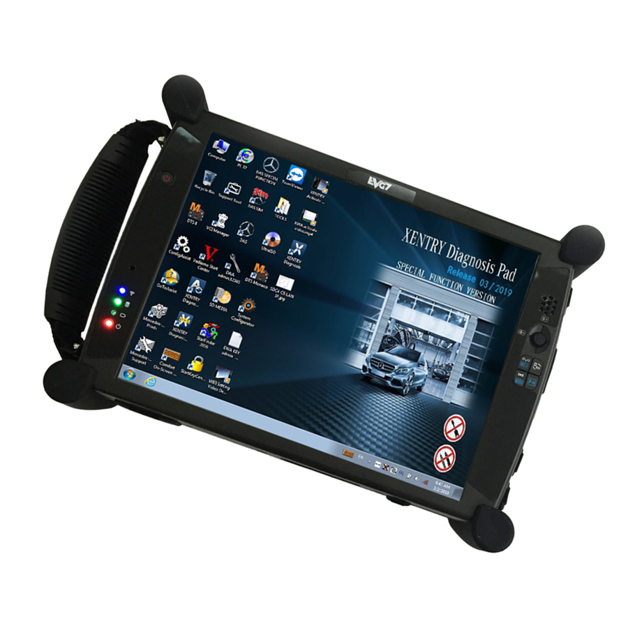 EVG7 For Icom A2 With Software Installed Well EVG7 DL46 Tablet PC 8GB Ram Laptop 500gb HDD Car Diagnostic Super Ista Expert Mode