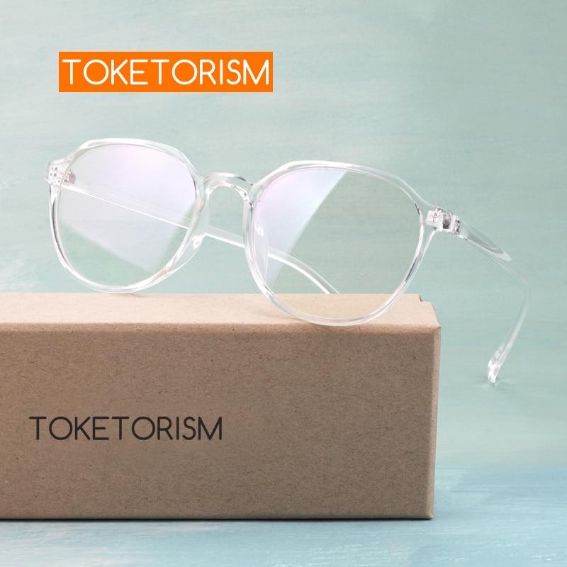 Toketorism Trendy Clear Lens Glasses Women's Eyeglasses Frame Optical Glasses Frame Men 0932