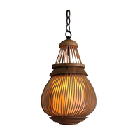 Tea room corridor corridor creative personality retro rural handmade bamboo chandelier