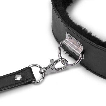 Bdsm Collar Leather And Leash Plush Fetish Bondage Sex Necklace SM Toys Restraints Sex Toys For Adults Women Men Couples Games 5