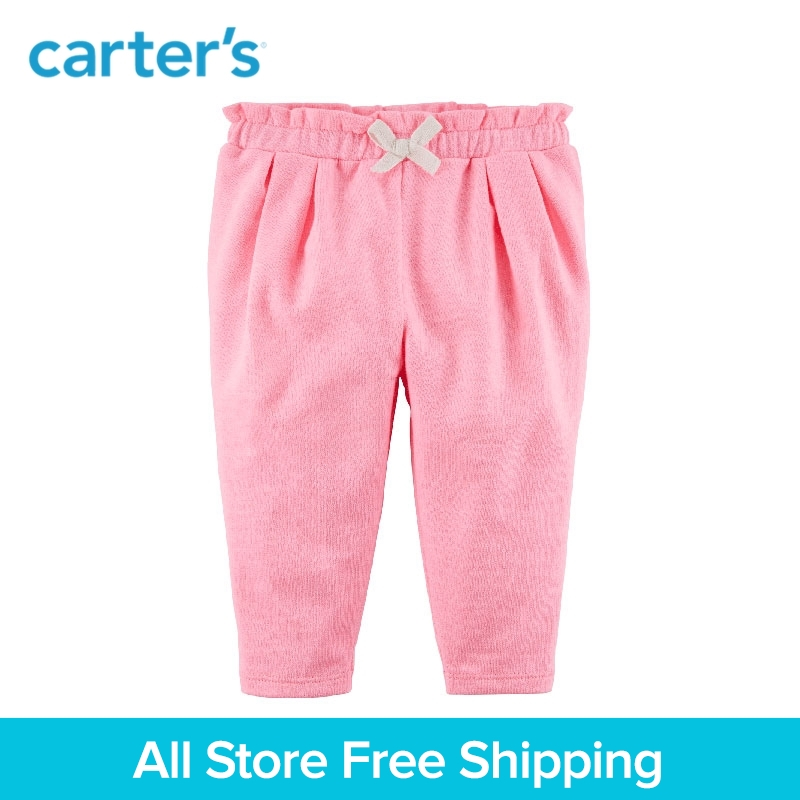 Carters 1-Piece baby children kids clothing Girl Spring & Summer French Terry Ruffle Pants 118H925