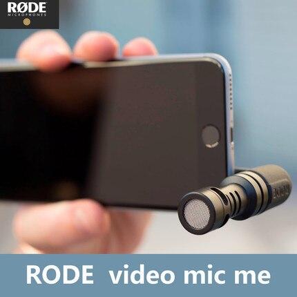 Rode VideoMic мне направленный микрофон мини видео Регистраторы для iphone samsung xiaomi huawei Ipad 3,5 мм Jack смартфонов Mic