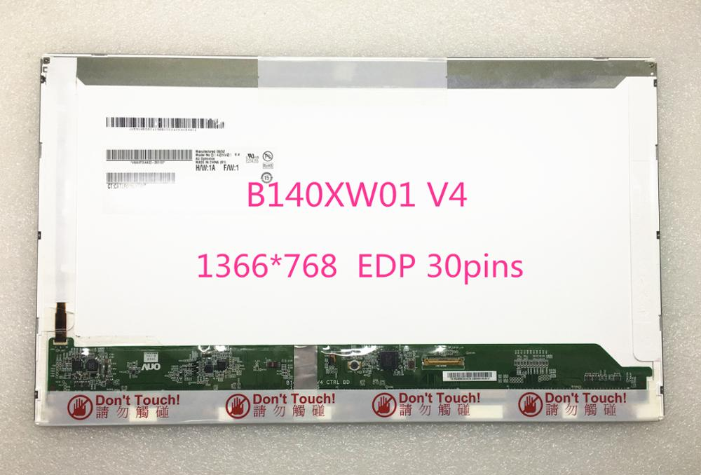 Free shipping! 14.0''inch B140XW01 V4 B140XW01 V.4 Laptop Lcd Screen 1366*768 EDP 30pins for asus zenbook ux32a laptop screen m133nwn1 r1 m133nwn1 r1 lcd screen 1366 768 edp 30 pins good original new