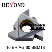 16 ER AG 60 BBM18 , Carbide Insternal Threading Inserts For Threaded Lathe Holder SER 16ER AG60 BBM18