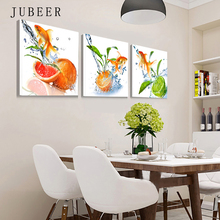 Scandinavian Style Oranger The Picture In The Kitchen Posters On the Wall Modern Paintings for Kitchen Decorations for Home