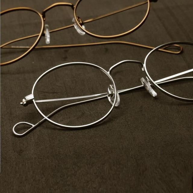 ハンドメイドジョン · レノンヴィンテージ楕円形の眼鏡フレーム男性女性メガネ眼鏡近視rxできる