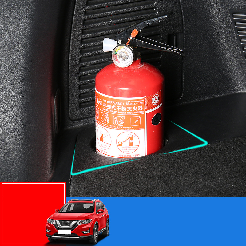 Automotive Fire Extinguisher >> Us 16 81 33 Off Trunk Fire Extinguisher Bracket Modified Accessories Auto Supplies Storage Box For Nissan X Trail X Trail T32 2014 2019 In Chromium