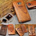 100% Handmade Edge Multi-Pattern Wood Bamboo Celular Case For Samsung Galaxy S4 mini S5 Neo/S7 S6 Edge Plus NOTE 5/4/3 J3 A3 A5