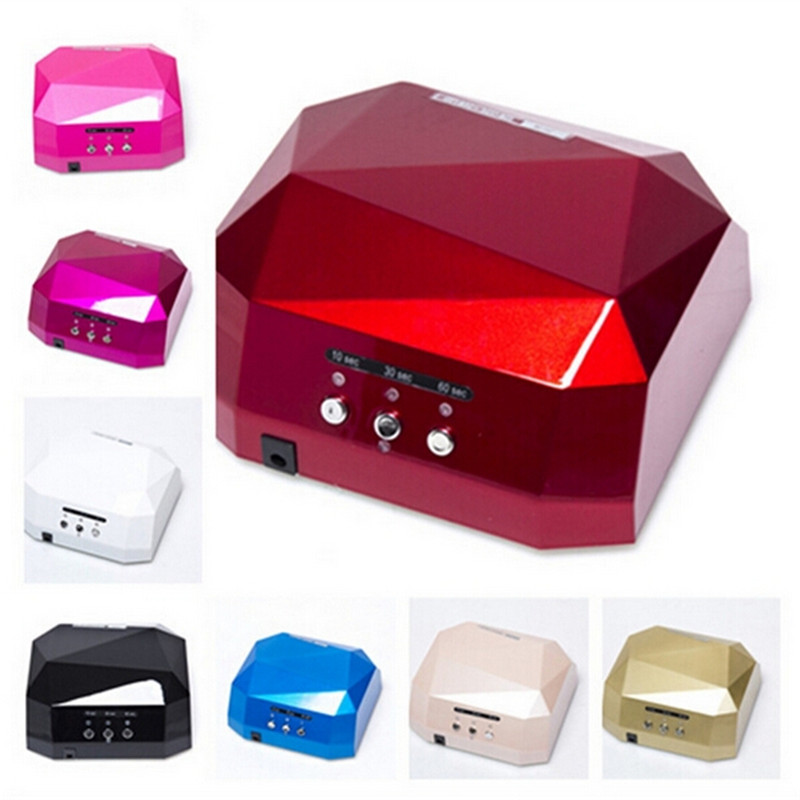 36W Nail Dryer Red Diamond Shape LED UV CCFL Light Gel Curing Lamps 2019 New Popular Drying Gel Polish Nail Tools