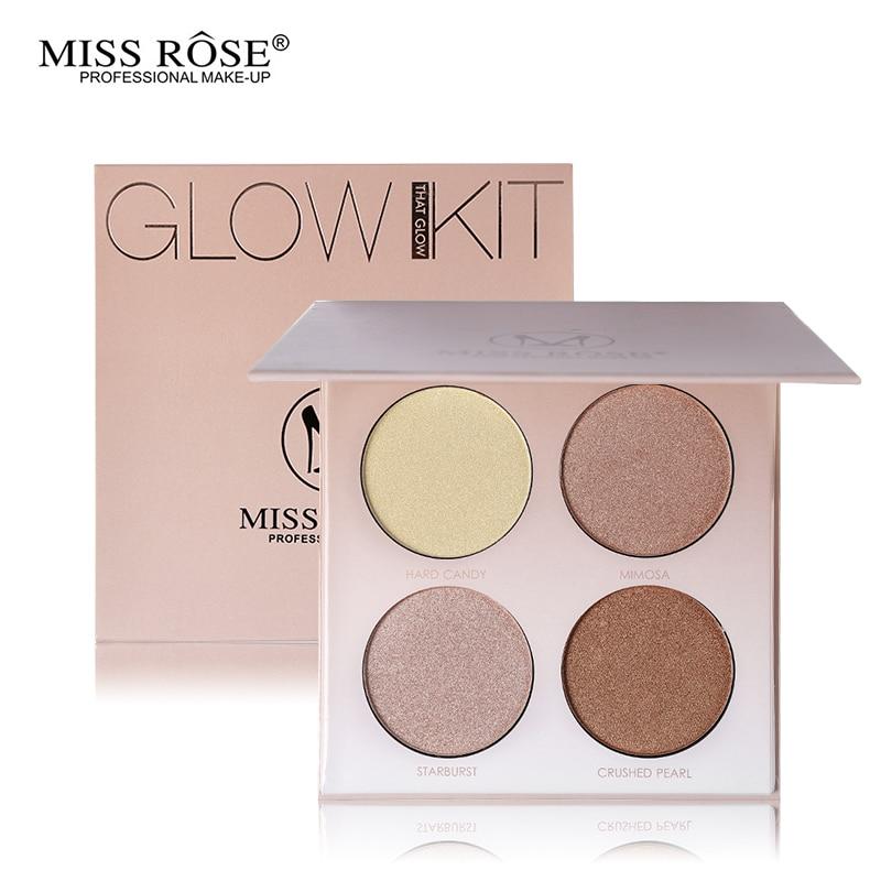 Mlle Rose Lueur Professionnelle Kit Bronzer et Surligneur Maquillage Ensemble Visage Contour Point Culminant Palette Lueur D'or Shimmer Poudre