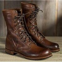 38 48 Work Shoes Winter Boots Men Big Size Plush Warm Winter Shoes Men Brown Vintage Men Boots Safety Shoes