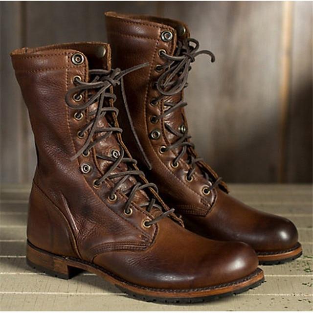 38-48 العمل أحذية الشتاء أحذية الرجال حجم كبير أفخم الدافئة الشتاء أحذية الرجال البني خمر الرجال أحذية السلامة أحذية