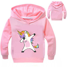 DLF 2-16Y 2019 Spring Dabbing Animal Sweatshirt Cartoon Printed Hoodies Baby Boys Kids Tops Girls Pullover Hooded Hip Hop Coats