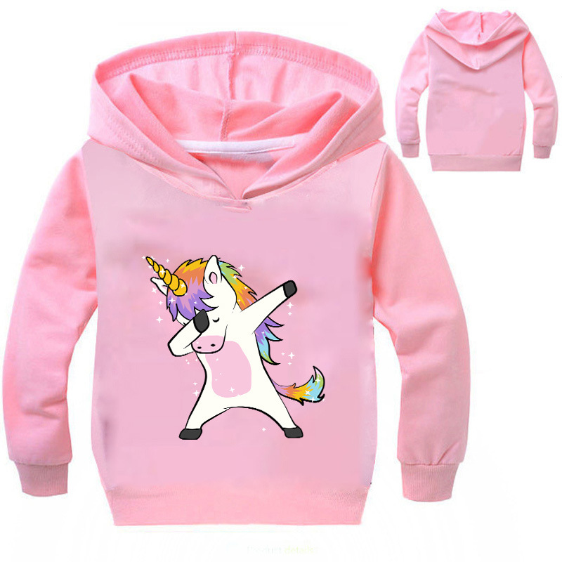 DLF 2-16Y 2019 Spring Dabbing Animal Sweatshirt Cartoon Printed Hoodies Baby Boys Kids Tops Girls Pullover Hooded Hip Hop Coats image