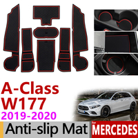 Anti Slip Mat para o Telefone Ranhura Portão Esteiras para Mercedes Benz Classe W177 2019 2020 Acessórios Adesivos UMA Classe A220 A250 A45 AMG|Adesivos para carro| |  -
