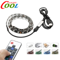 5V USB LED Strip 5050 RGB TV Background Lighting 60LEDs/m with 17Key RF Controller 50cm / 1m / 2m Set