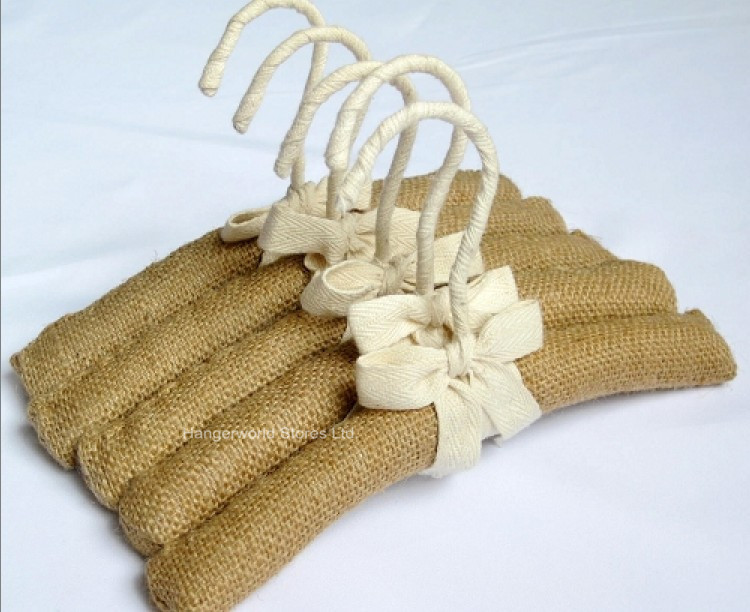 [Doprava zdarma] Dětský styl! Věšáky na šaty z přírodního lněné polstrované tkaniny, 30cm (20 ks / Lot)  t
