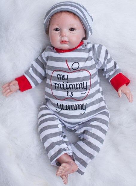 50 Cm Zachte Siliconen Reborn Babypoppen Speelgoed Realistische Pasgeboren Jongens Baby 's Met Magneet Mond Mooie Verjaardagscadeau Speelhuis Speelgoed Matige Prijs