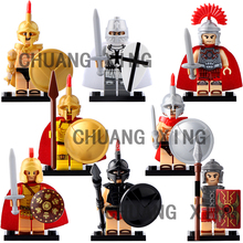 Military Army Roman Soldiers Centurion Figures Compatible LegoINGly Sparta Medieval Knights Heavy Infantry Weapon Building Block