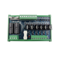 8 channel PLC hybrid board / 6 way 24V high level output, 2 way macro single open 16A relay output, plug in terminal