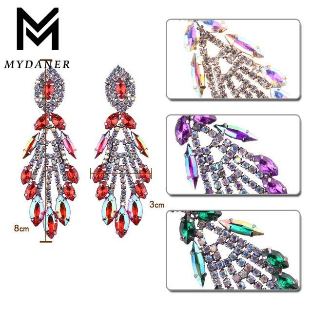 Купить женские длинные висячие серьги mydaner роскошные в стиле бохо