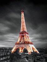 Diy Full Diamond Mosaic Eiffel Tower Diamond Embroidery Landscape Pictures Sequins Crafts Needlework Wall Art Decorative