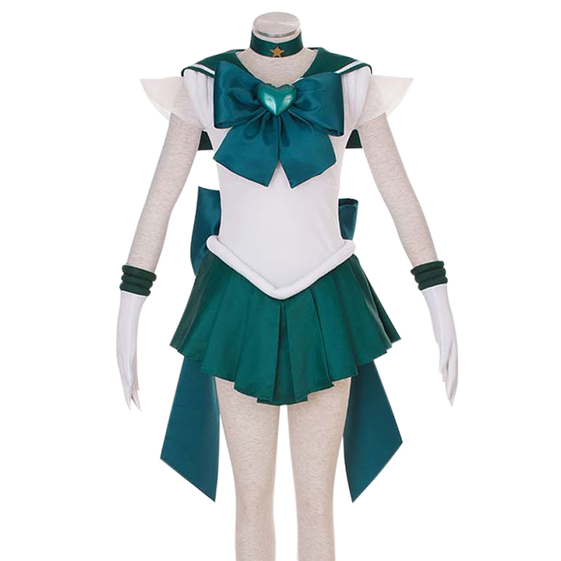 2019 chaud Anime marin lune Cosplay Kaiou Michiru Cos Halloween homme femme Cosplay Costume robe + manches + cravate + nœud + cravate + chapeaux - 3