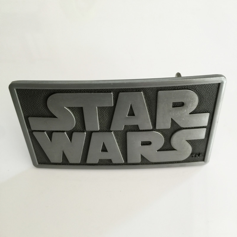 Retail New styles Star Wars belt buckle Rectangle Silver metal cowboy Belt head Fit 4cm Wide Belt Fashion Mens Jeans accessories