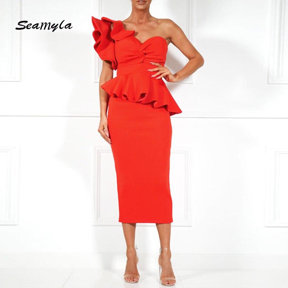 Seamyla neue sommer bandage dress sexy slash hals rot schwarz ...