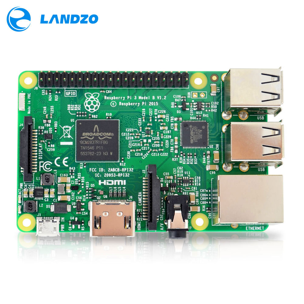 Placa Raspberry Pi 3 Modelo B 1 GB LPDDR2 BCM2837 Quad-Core Ras PI3 B, 3B PI, PI 3 B com WiFi & Bluetooth 2016 Novo (Element14 Version)