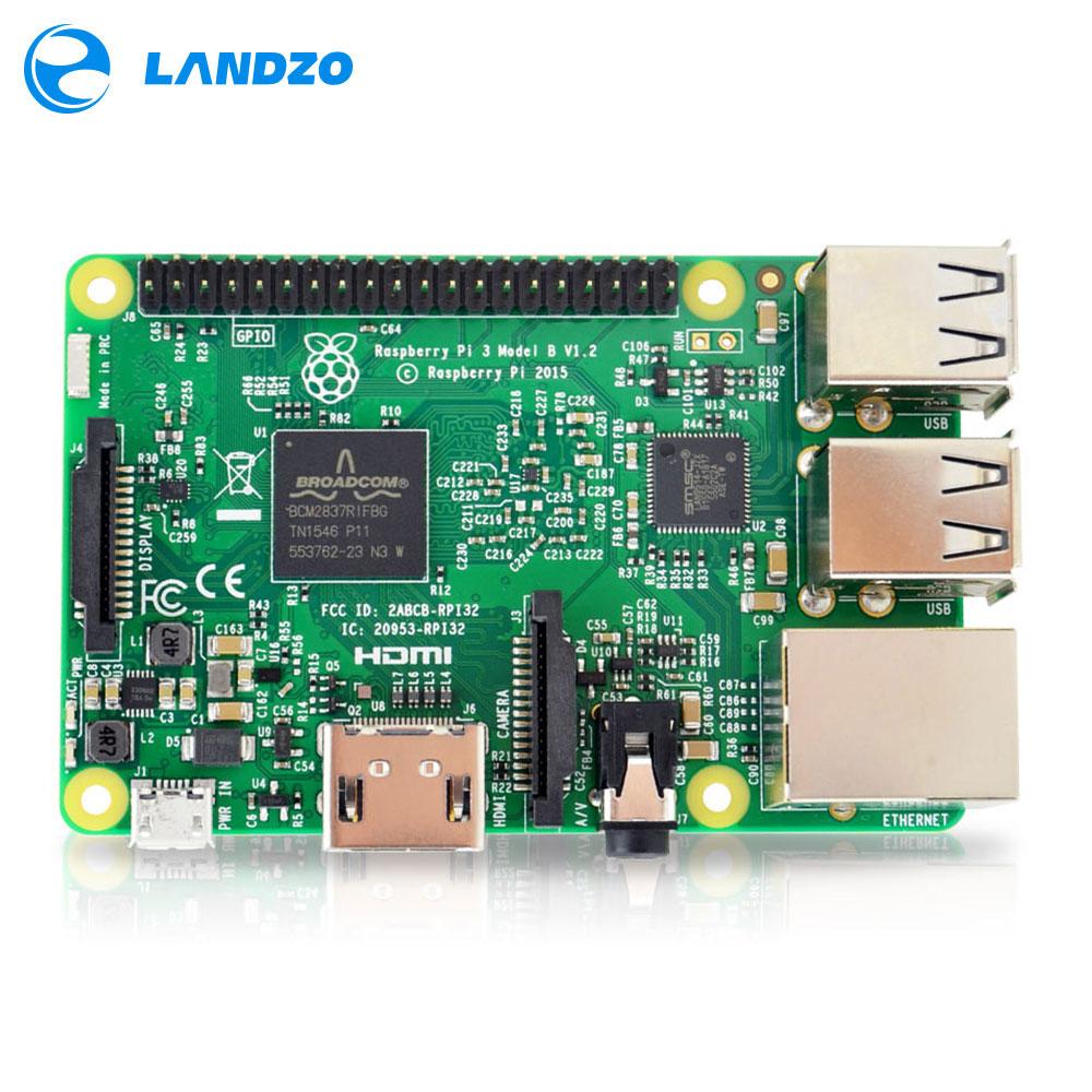 Raspberry Pi 3 Modello B Bordo 1 GB LPDDR2 BCM2837 Quad-Core Ras PI3 B, PI 3B, PI 3 B con WiFi e Bluetooth 2016 Nuovo (Element14 Version)