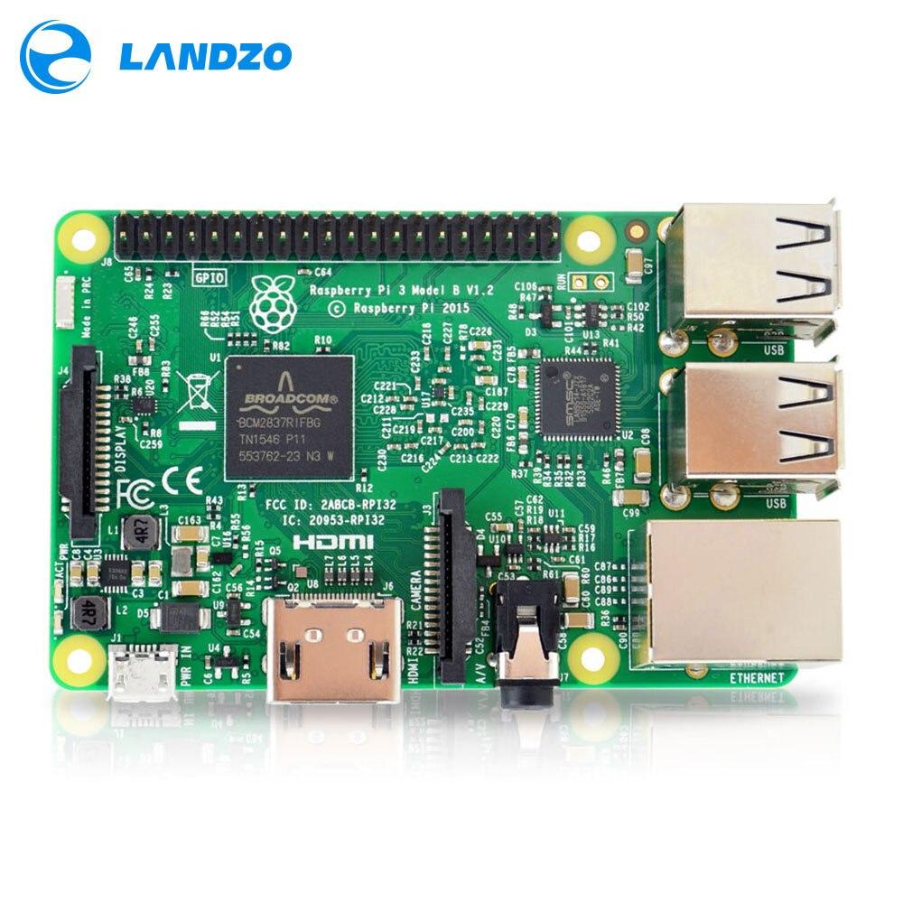 Raspberry Pi 3 Modelo B Junta 1 GB LPDDR2 BCM2837 Quad-Core Ras PI3 B, 3B PI, PI 3 B con WiFi y Bluetooth 2016 Nuevo (Element14 Version)