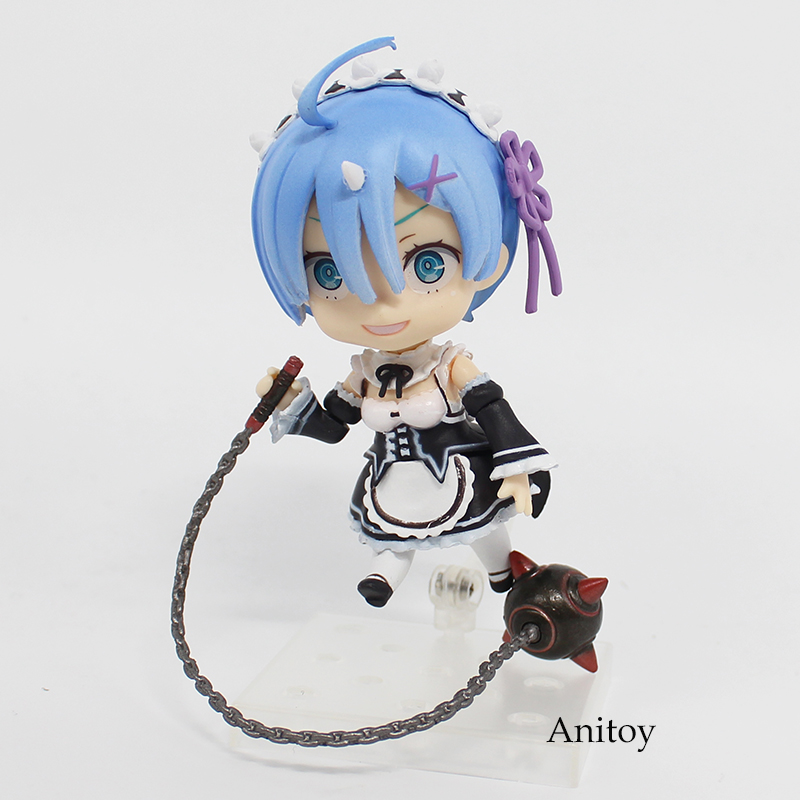 Anime Re: Life In A Different World From Zero Rem Q Version 663 Nendoroid PVC Figure Collectible Toy 10cm KT4013 23cm re life in a different world from zero rem action figure wedding dress ver rem pvc figure toy brinquedos