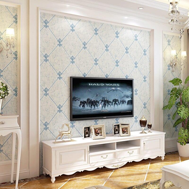 Nonwovens Television Wallpaper 3D Living Room European s