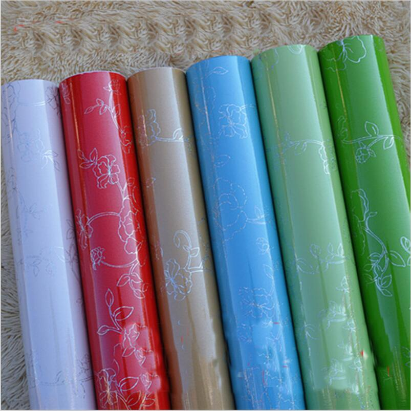 Order 1 Piece Diy Waterproof Pre Paste Contact Paper Film For Kitchen Cabinet Furniture Laser Pattern Wallpaper