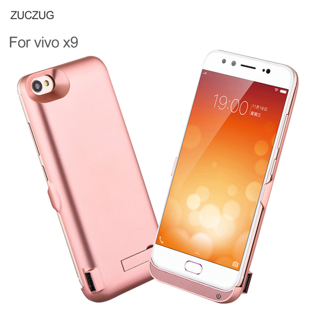 ZUCZUG Battery Charger Cases For VIVO X9 6500 mAh Rechargeable PowerBank Case Ultra Thin Slim Cover External Backup Battery Case