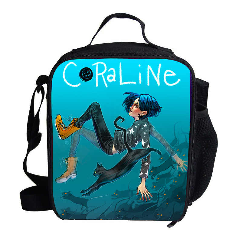 be736d36c9c7 Anime Movie Coraline Kids Cooler Bags For Women Children School Picnic Pack  Girls/Boys Insulated Termica Food Cooler Bag