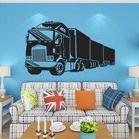 이동식 트럭 트럭 전송 벽 스티커 룸 장식 침실 diy 전사 술 벽화 예술 거실 장식 벽 종이