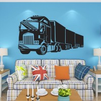 Removable Lorry Truck Transport Wall Sticker Room Decor Bedroom DIY Decal Mural Art Living Room Decor Wall Paper