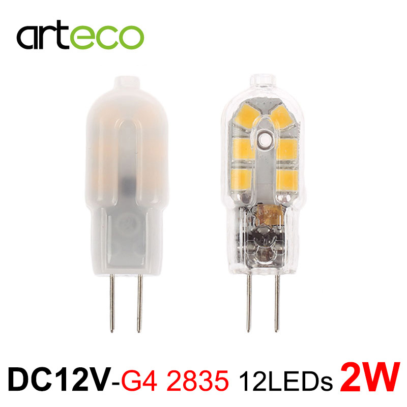 AC/DC12V Mini G4 LED Bulb 12LEDs SMD 2835 LED Lamp  LED Spotlight Replace Halogen Lamp Chandelier Crystal Light lanchuang dc12v g4 led bulb 3w 5w 6w led g4 lamp light for crystal chandelier g4 led lights lamp replace halogen spotlight