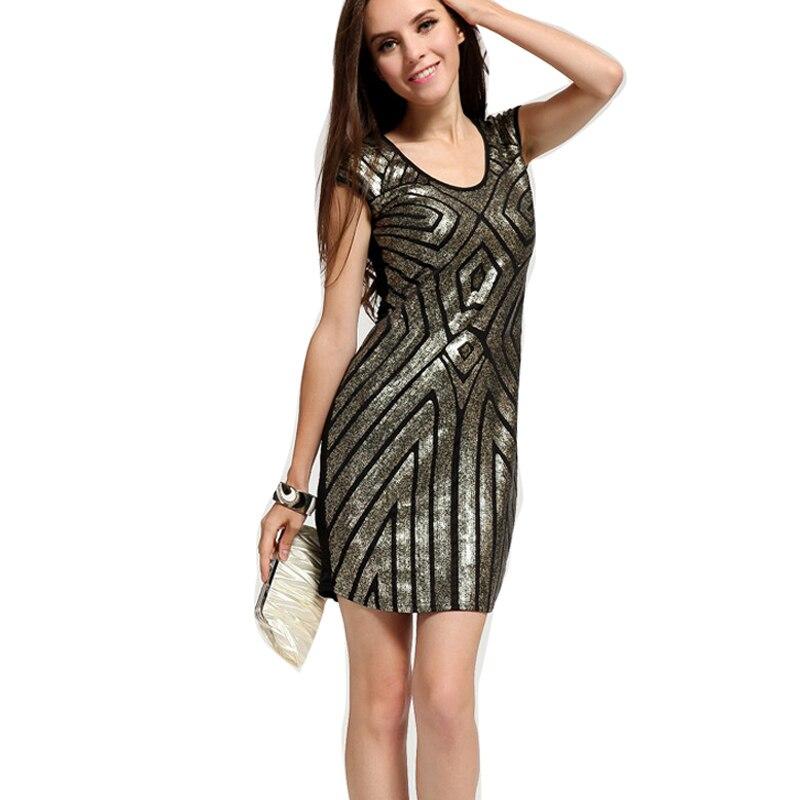 Горячее блестящее вечернее платье для ночного клуба сексуальное платье-карандаш с коротким рукавом летнее облегающее платье одежда для то...