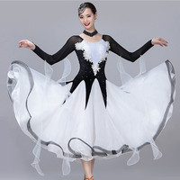 standard ballroom dress women ballroom dance competition dresses kids standard dance dress waltz dress festival clothing white