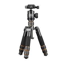 QZSD Q166C Mini profesjonalny statyw do kamery z włókna węglowego wysuwany statyw fotograficzny z głowicą kulową i płyta szybkiego uwalniania