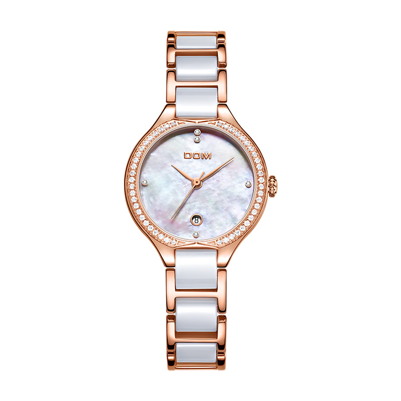 DOM watch women watches Top luxury famous brand ladies wristwatch female clock rose Gold ceramic reloj mujer relogio feminino